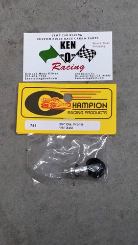 "CHAMPION 741 3/4"" Diameter Fronts, 1/8"" Axle"