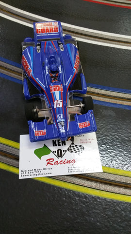 JK 20817215 Blue #15 National Guard RTR Indy Car Open Wheels With Hawk 7 Motor 64 P, 3/32 Axle
