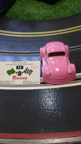 Parma 875CP 1/32 Hotty Hot Pink VW Bug Coupe Painted Body W/Bling
