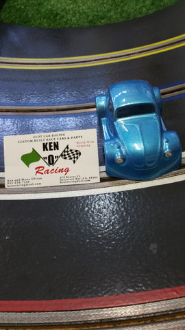 Parma 875CP 1/32 Iced Metalic Blue VW Bug Coupe Painted Body W/Bling
