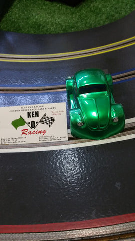 Parma 875CP 1/32 Luck Of The Irish Green  VW Bug Coupe Painted Body W/Bling