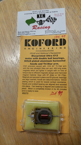 Koford 527G BP Ultra G12 Motor W/Double BB Gold Plated Hoods Tri Star Arm