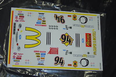 #94 McDonalds Taurus NASCAR 1/24 Slot Car Vinyl Decal