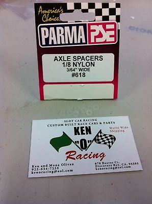 Parma #618 Nylon Axle Spacers 1/8 X 3/64  8-Pack