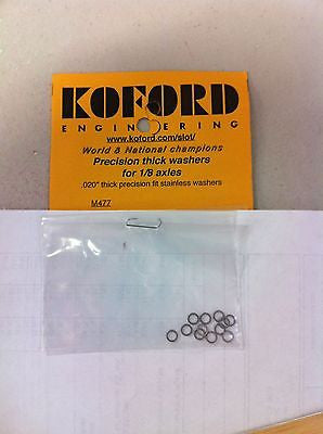 Koford 477  .020 X 1/8 Stainless Steel Axle Spacers, 12 pack