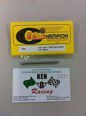 "CHAMPION #701 Steel 1/8"" X 2.25"" 1/32 Slot Car Axles"
