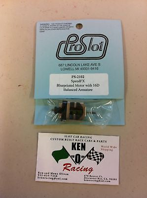 PRO SLOT 2102 Blueprinted Slot Car Motor W/ Bal Arm16D