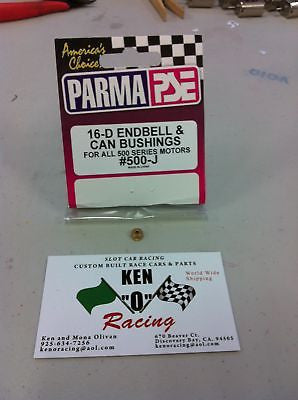 PARMA # 500-J, 2-mm X 6 mm D-Can Motor Oilite Bushings Per Pair