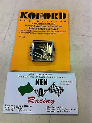 Koford 453 Precut Brass Pin Tubes for Solid Mount EDM/GTP/NASCAR Chassis