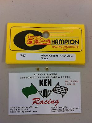 "Champion #747 Brass 1/16"" Collars 24 Pack"