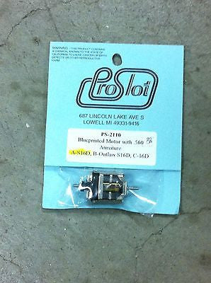 PRO SLOT 2110-A 45* Factory Blueprinted Super 16D Slot Car Motor W/ .560 Arm