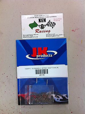 JKP 178  3/32 X .022 Steel Axle Spacers 100 PiecePack