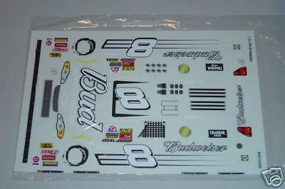 #8 Bud Chevy NASCAR 1/24 SlotCar Vinyl Decal Set