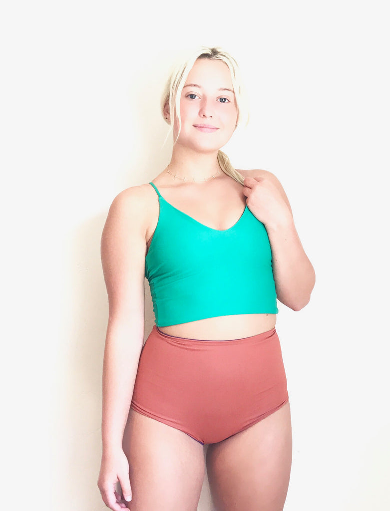 Copper & Eggplant High Waisted Reversible Bottoms