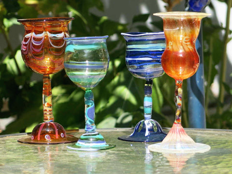 Hand Blown Glass Goblet
