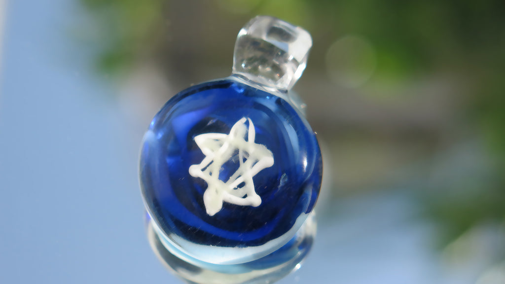 Star of David Glass Pendant