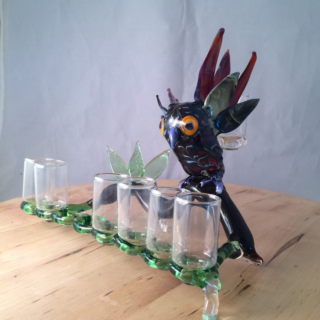 Glass Owl Menorah