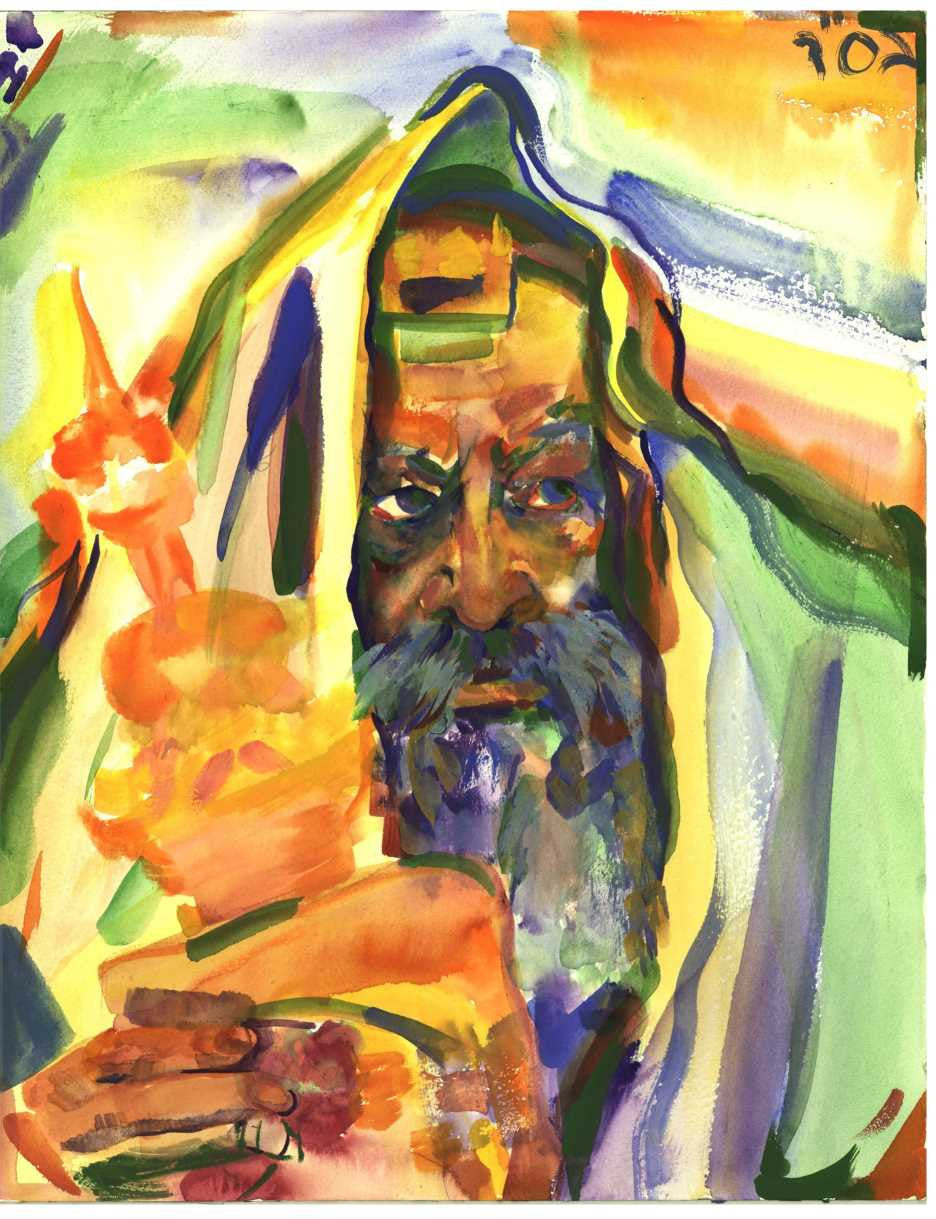 The Rebbe with the Torah