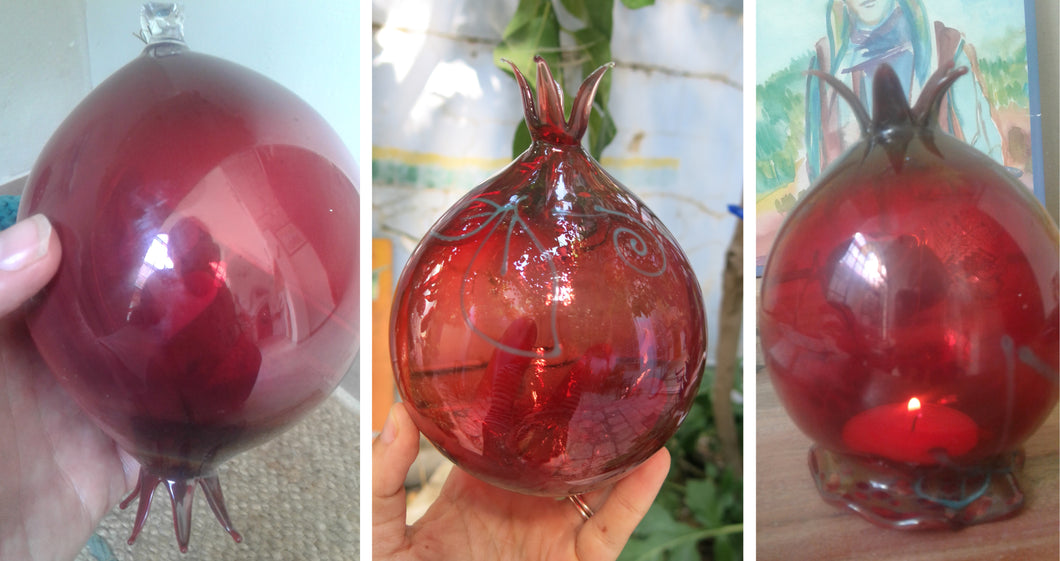 7 Large Red Pomegranates - special