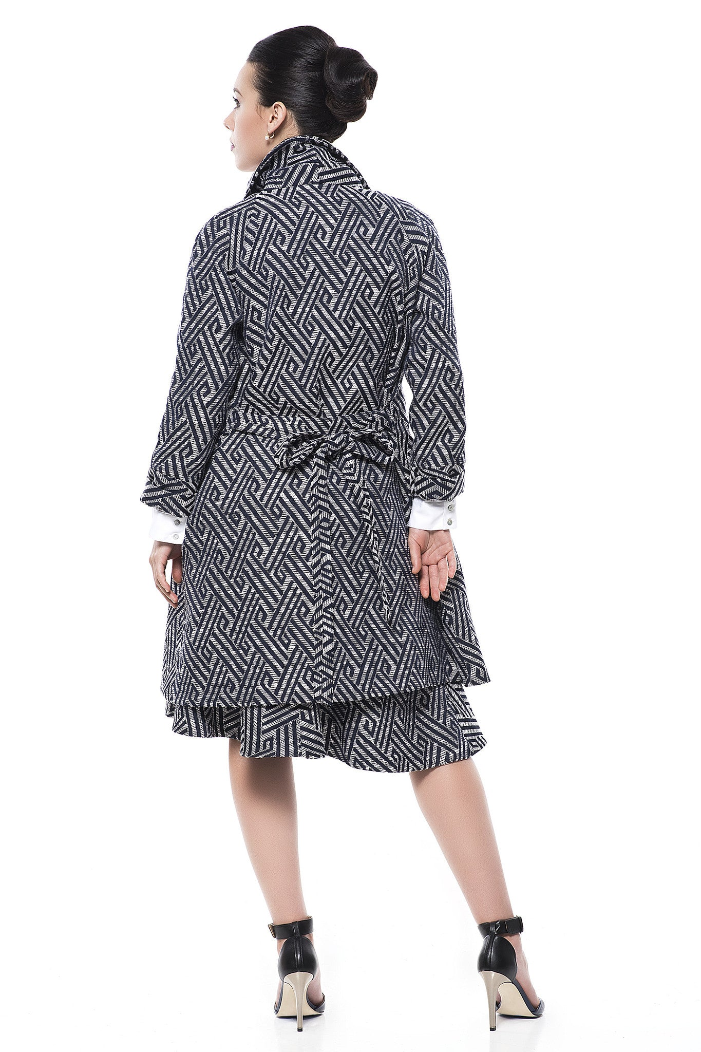 Shawl-Collar Swing Coat