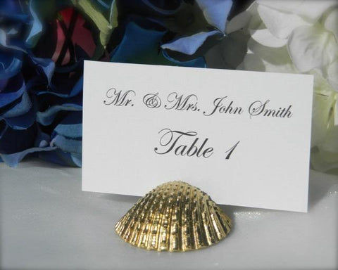 Gold Shell Place Card Holders - Gallery360 Designs