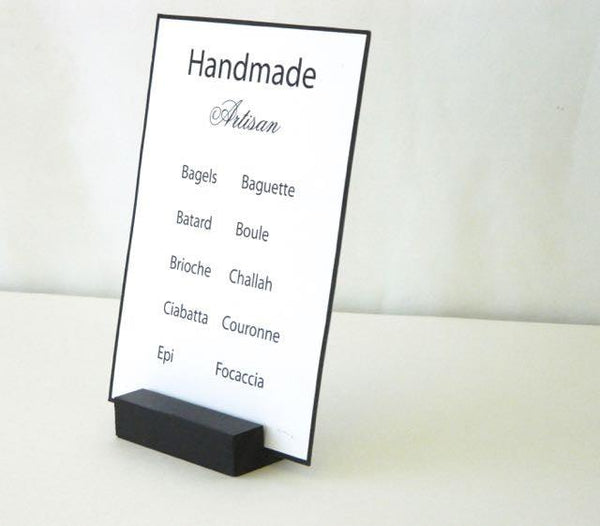 "Black Retail Sign Holder (3"") - Gallery360 Designs"