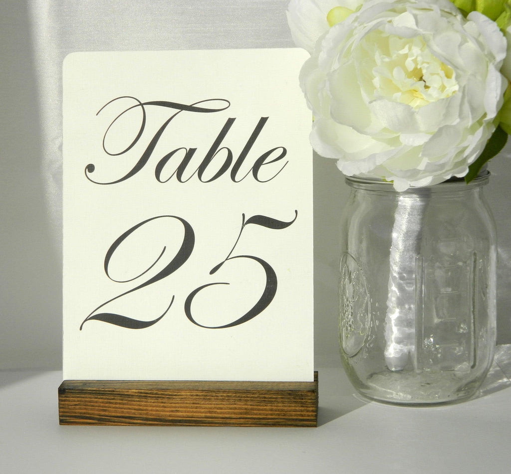Table Number Holder Rustic Wedding Rustic Wood Table Number