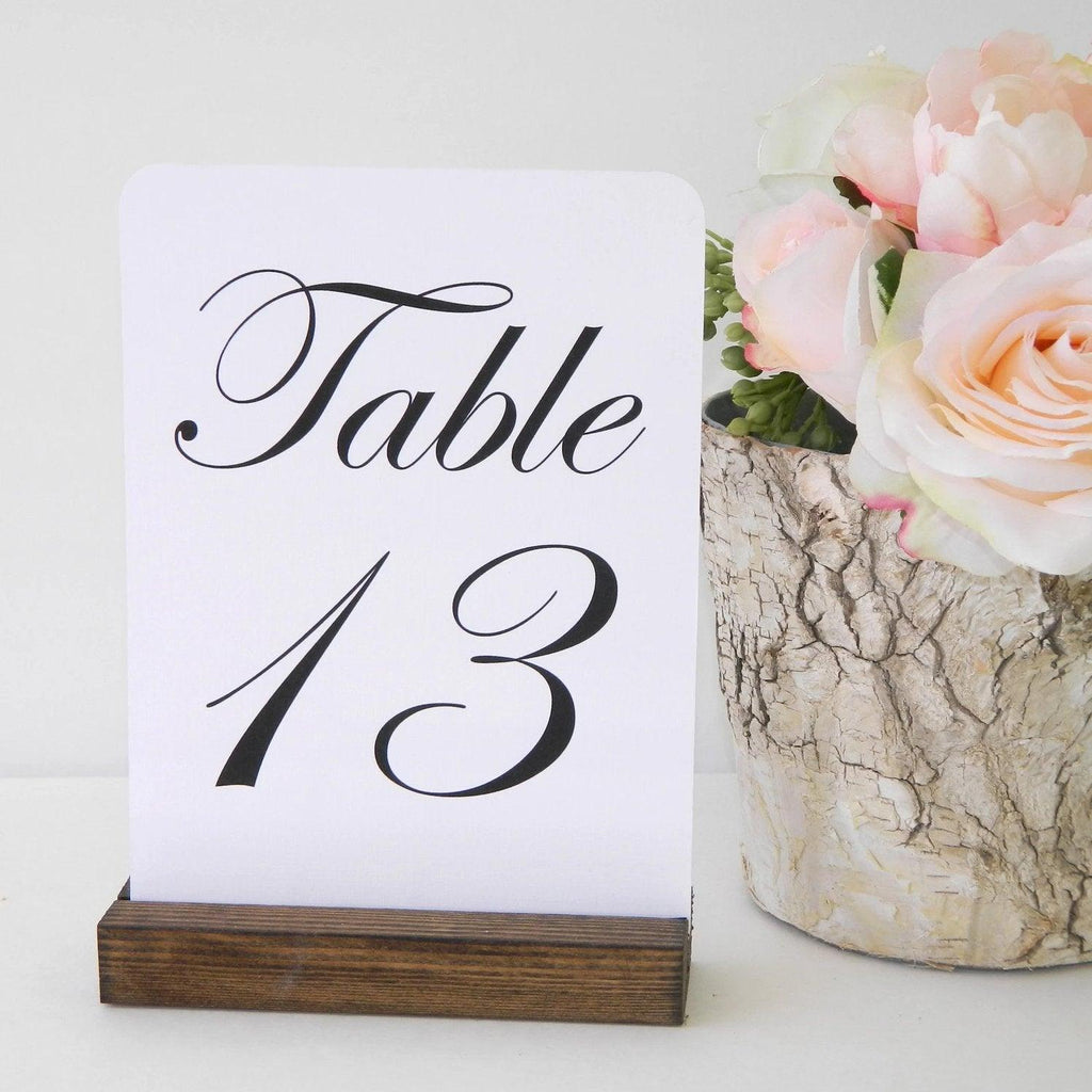 Table Number Holder + Rustic Wedding + Rustic Wood Table Number ...