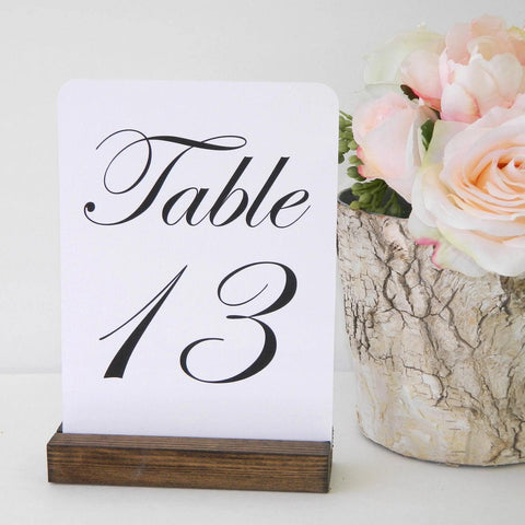 Table Number Holder + Rustic Wedding + Rustic Wood Table Number Holders (5inch) - Gallery360 Designs