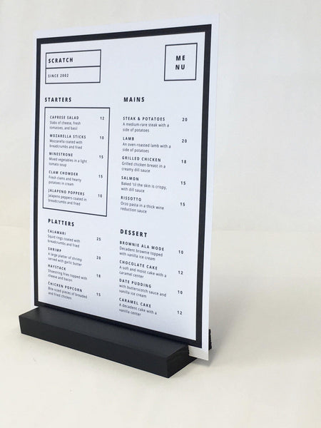 "Black Retail and Restaurant Sign Holder (7"" x 2"" x 3/4"") - Gallery360 Designs"