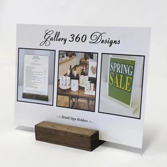 "Rustic Retail Sign Holder (3"") - Gallery360 Designs"