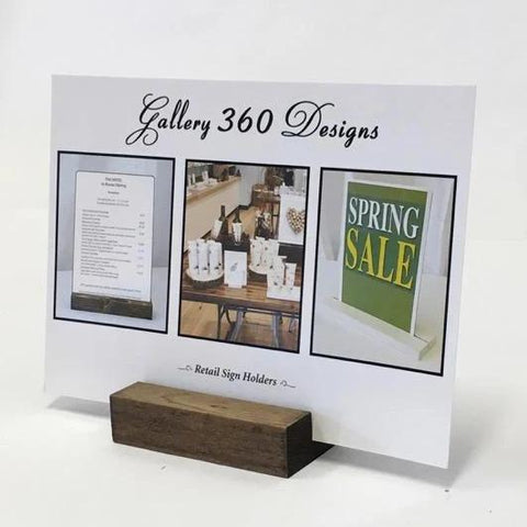 Retail Sign Holder - Gallery360 Designs