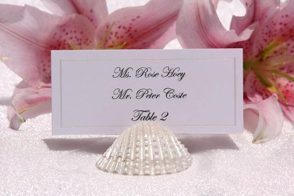 Pearl Shell Place Card Holder - Gallery360 Designs