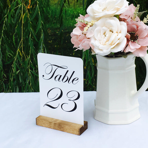 Table Number Holder + Boho Wedding + Rustic Wood Table Number Holders (5inch) - Gallery360 Designs