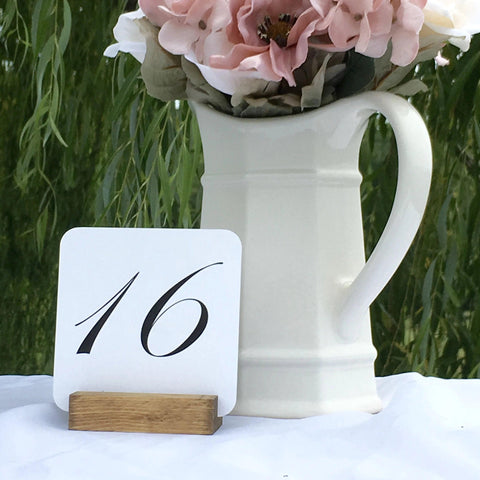 Table Number Holders + Rustic Wood Table Number Holders - Gallery360 Designs