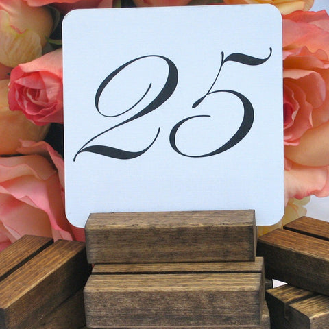 Rustic Table Number Holder, 3 inch, for Weddings, Restaurants, Banquets, by Gallery360Designs - Gallery360 Designs