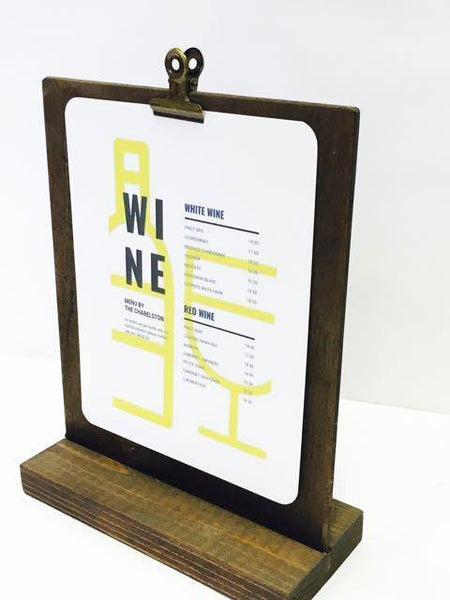 Rustic Menu Stand (5 x 7) - Gallery360 Designs