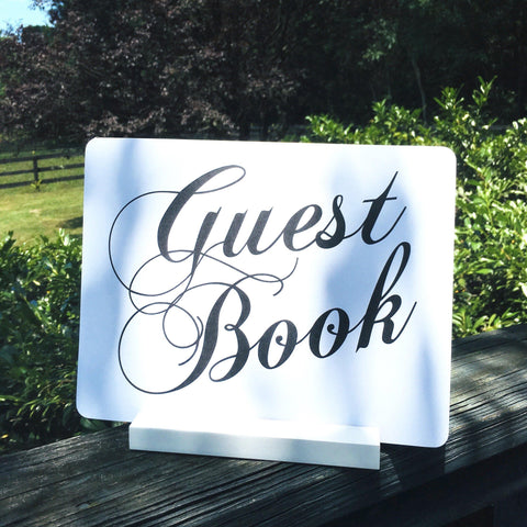 Guest Book Printable Sign  (8.5 x 11) - Gallery360 Designs