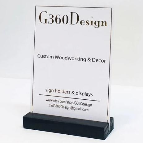 "Black Retail Sign Holder (5"") - Gallery360 Designs"