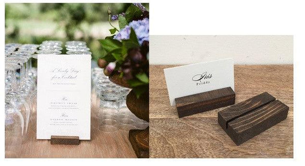 Table Number Holders + Rustic Wood Table Number Holders , Table Number Holders - Gallery360 Designs, Gallery360 Designs  - 4