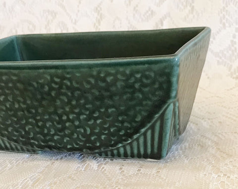 Vintage 50s USA Planter Green Mondern Mid Century Free Shipping