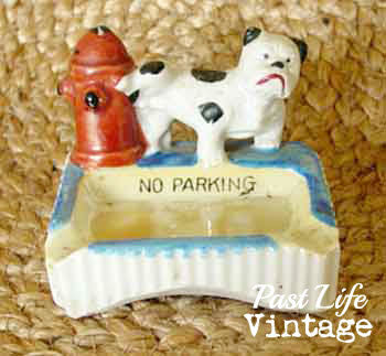 Bulldog Lusterware Ashtray Vintage Made in Japan Dog Collectible