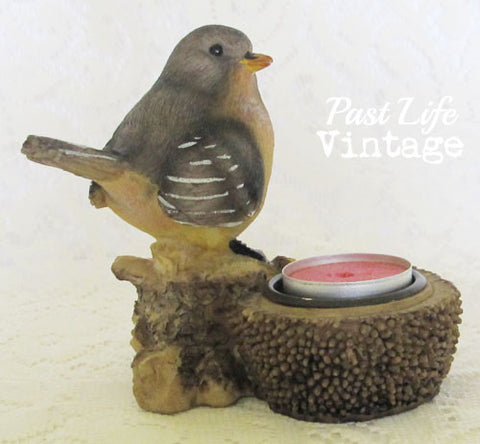 Collectible Bird Tealight Candle Holder Highly Detailed