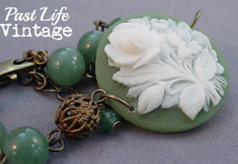 Rose Bouquet MidCentury Cameo in New Bracelet
