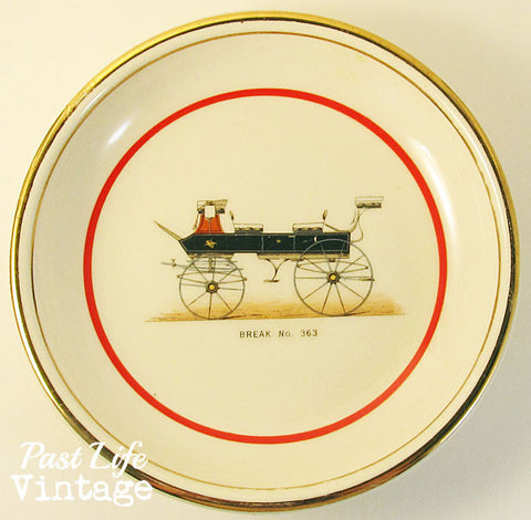 Break Carriage Hyalyn North Carolina Porcelain Dish Horse Transportation Collectibles