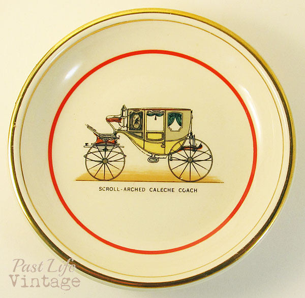 Caleche Coach Carriage Hyalyn North Carolina Porcelain Dish Horse Transportation Collectibles