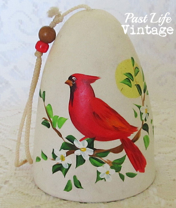 Cardinal Bird Bell Vintage Collectible Bisque Free US Shipping