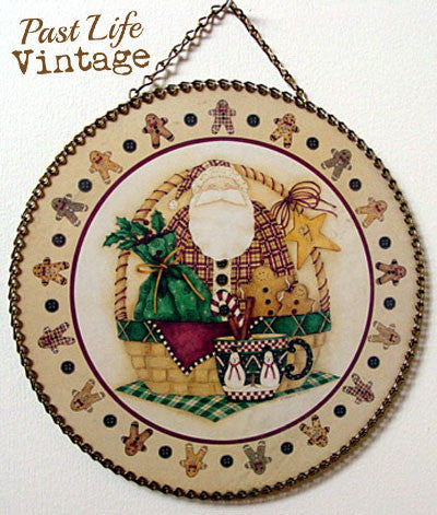 Gingerbread Santa Christmas Flue Cover Gallery Graphics NWT