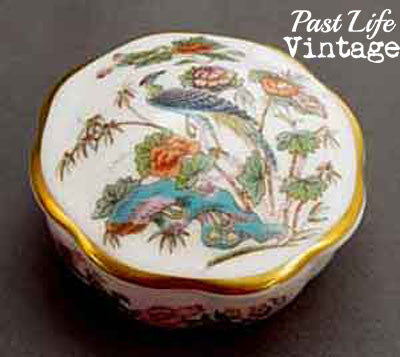 Wedgwood Kutani Crane Bone China Trinket Box with Lid