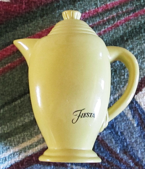 Home Laughlin Fiestaware Yellow Coffeepot Magnet